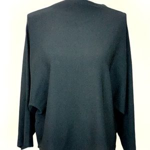 Stylish Knit Top with Dramatic Sleeves